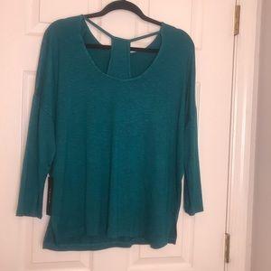 Blue long sleeve blouse